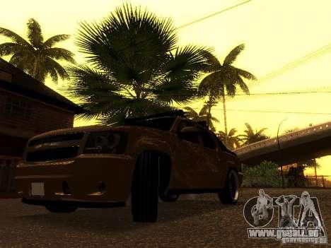 Chevrolet Avalanche Tuning pour GTA San Andreas vue arrière
