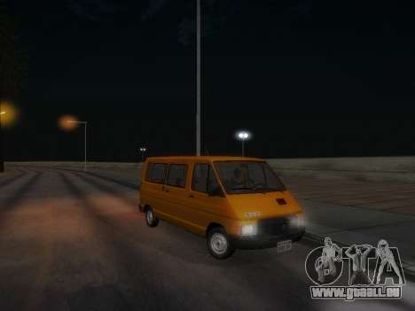Renault Trafic T1000D Minibus pour GTA San Andreas vue de dessous
