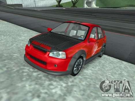 Kalina 1118 VAZ pour GTA San Andreas vue de dessous