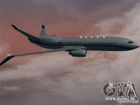 Boeing 737 Iron Man Bussines Jet für GTA San Andreas Rückansicht