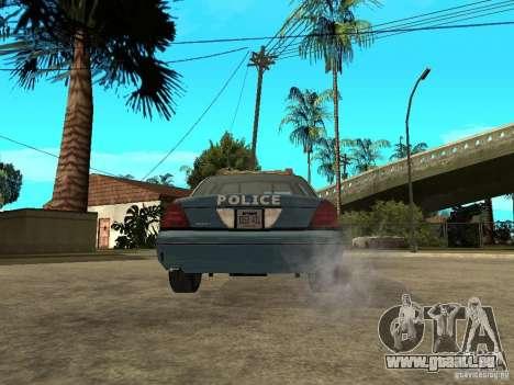 2003 Ford Crown Victoria Gotham City Police Unit für GTA San Andreas zurück linke Ansicht