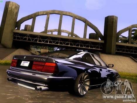 BMW 850 CSI pour GTA San Andreas salon