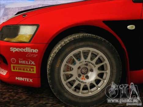 Mitsubishi Lancer Evolution IX Rally pour GTA San Andreas vue intérieure