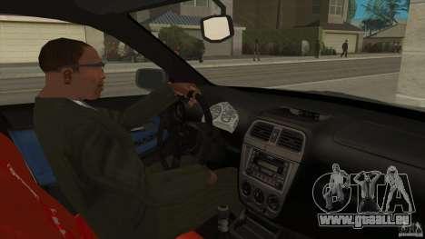 Subaru Impreza 2005 Mission Edition für GTA San Andreas Innenansicht