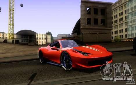 Ferrari 458 Italia Final für GTA San Andreas Motor