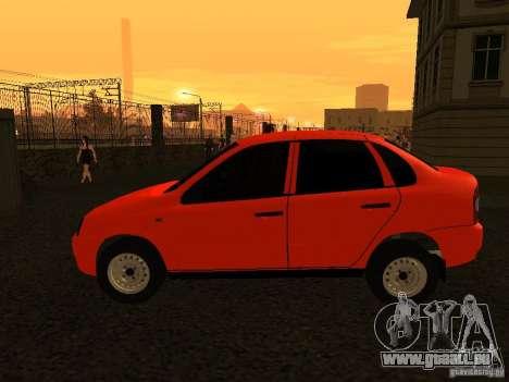 VAZ 1118 pour GTA San Andreas sur la vue arrière gauche
