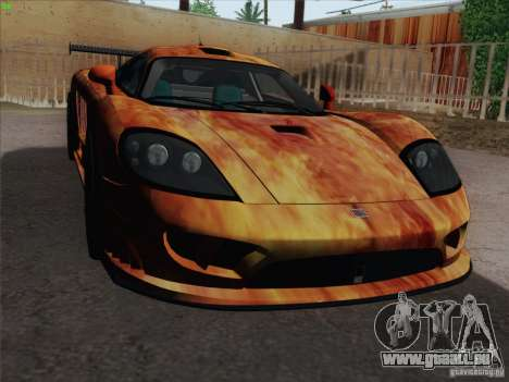 Saleen S7 Twin Turbo Competition Custom für GTA San Andreas obere Ansicht