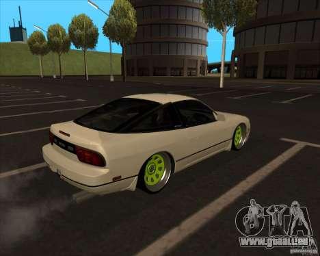 Nissan 180SX JDM für GTA San Andreas Rückansicht