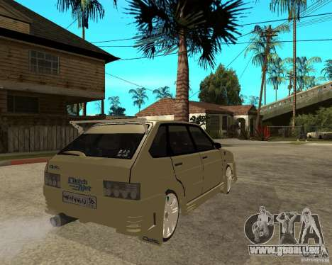ВАЗ 2114 Mechenny pour GTA San Andreas sur la vue arrière gauche