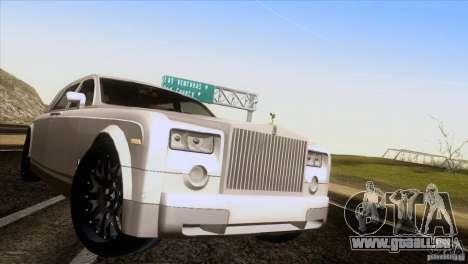 Rolls Royce Phantom Hamann pour GTA San Andreas vue arrière