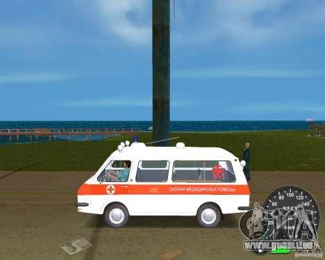 RAF 2203 Ambulanz für GTA Vice City rechten Ansicht