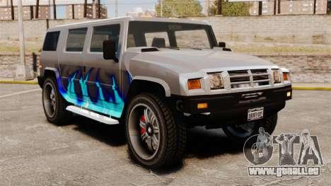 Patriot in der Lackierung des blauen Feuers für GTA 4