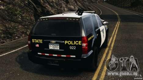 Chevrolet Tahoe Marked Unit [ELS] pour GTA 4 Vue arrière de la gauche