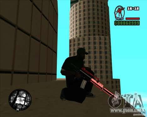 Chrome black red gun pack pour GTA San Andreas deuxième écran