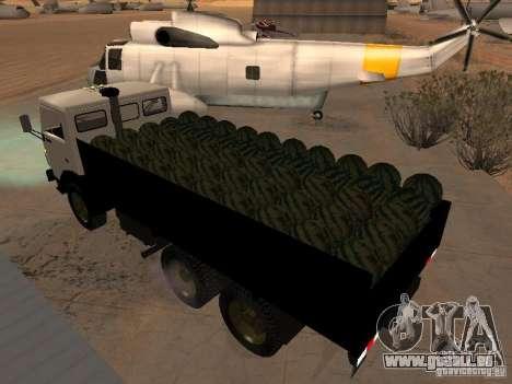 KAMAZ 53212 offen für GTA San Andreas zurück linke Ansicht