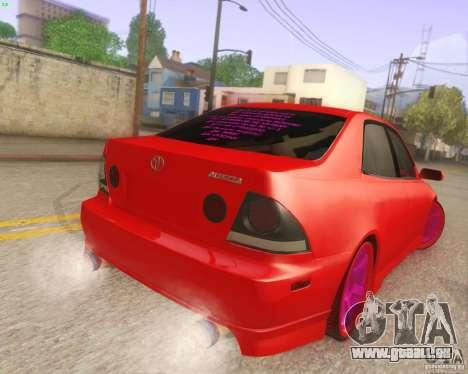 Toyota Altezza Drift Style v4.0 Final für GTA San Andreas rechten Ansicht
