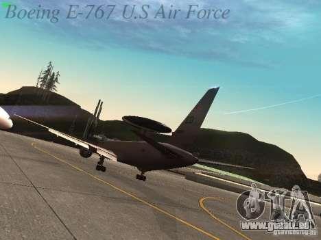 Boeing E-767 U.S Air Force pour GTA San Andreas vue de droite