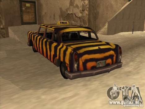 Zebra Cab von Vice City für GTA San Andreas Rückansicht