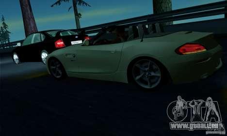 BMW Z4 2010 für GTA San Andreas Innen
