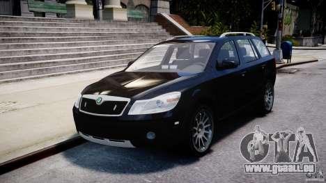 Skoda Octavia Scout Unmarked [ELS] pour GTA 4 est une vue de l'intérieur
