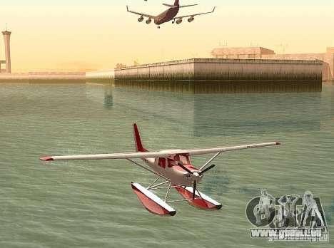 Cessna 152-Wasser-option für GTA San Andreas zurück linke Ansicht