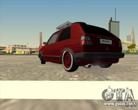 VW Golf II Shadow Crew pour GTA San Andreas laissé vue