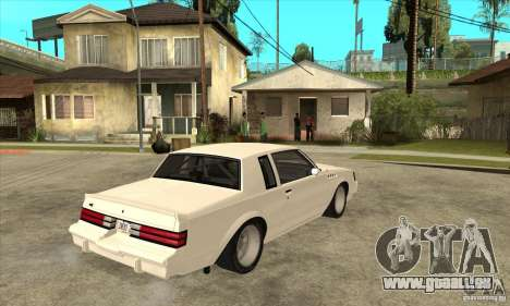 Buick Regal Grand National GNX pour GTA San Andreas vue de droite