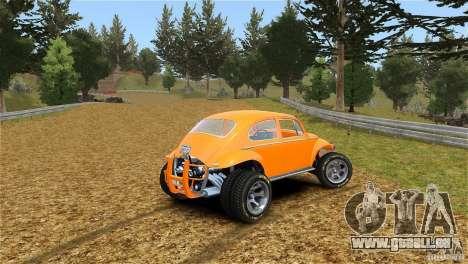 Baja Volkswagen Beetle V8 pour GTA 4 est une gauche