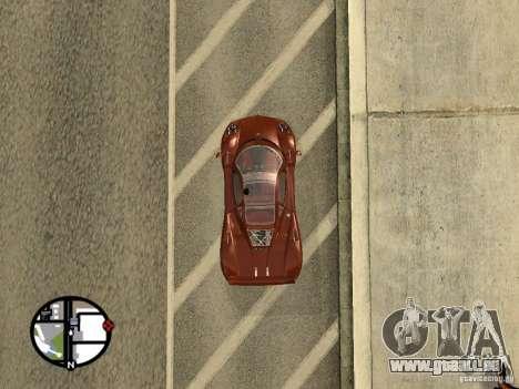 Pagani Zonda F pour GTA San Andreas sur la vue arrière gauche