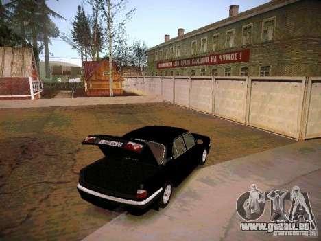 GAZ Volga 31105 S60 pour GTA San Andreas vue intérieure