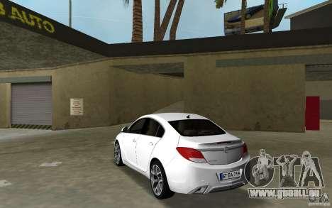 Opel Insignia pour GTA Vice City sur la vue arrière gauche