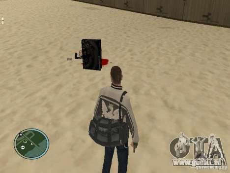 Pedy avec sacs et téléphones pour GTA San Andreas deuxième écran