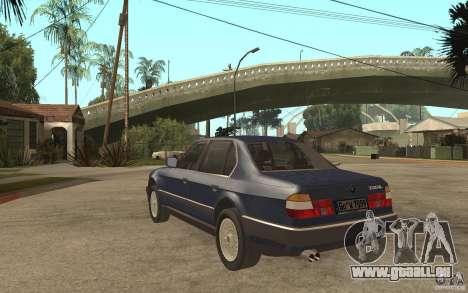 BMW 735Li e32 für GTA San Andreas zurück linke Ansicht