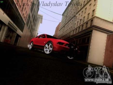 Ford Mustang GT 2011 pour GTA San Andreas vue arrière