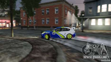 Subaru Impreza WRX STI Rallycross BFGoodric pour GTA 4 Salon
