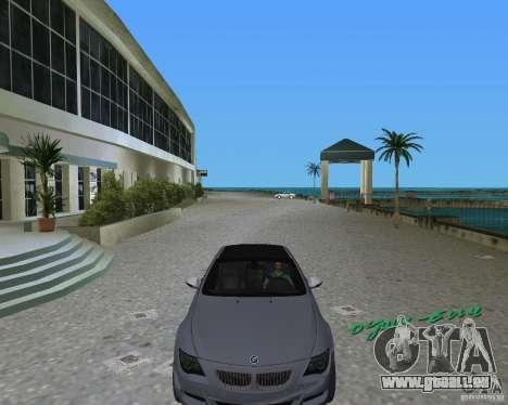BMW M6 pour une vue GTA Vice City de la gauche