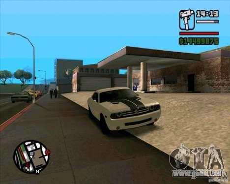 Dodge Challenger pour GTA San Andreas laissé vue