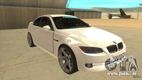 BMW 335i Coupe 2011 pour GTA San Andreas vue arrière