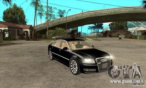 Audi A8 de transporteur 3 pour GTA San Andreas vue arrière
