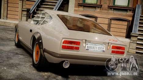 Nissan 260ZX Fairlady Z pour GTA 4 Vue arrière de la gauche