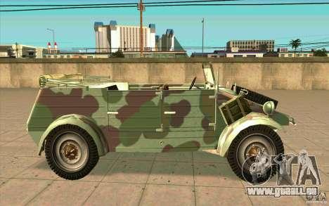Kuebelwagen pour GTA San Andreas laissé vue