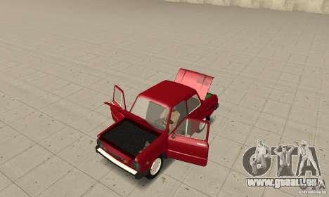 ZAZ 968 m pour GTA San Andreas vue arrière