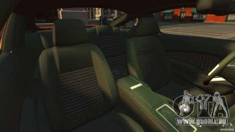 Ford Mustang GT 2011 pour GTA 4 est une vue de l'intérieur