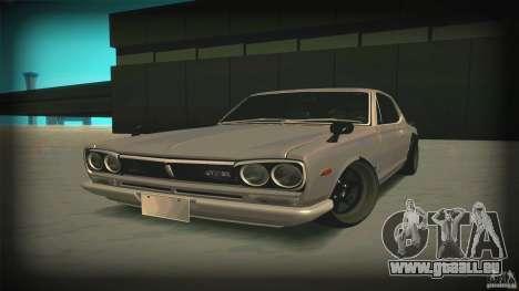 Nissan Skyline 2000GT-R JDM Style pour GTA San Andreas vue de droite