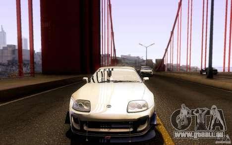 Toyota Supra D1 1998 pour GTA San Andreas vue de dessous