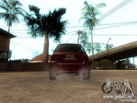 Serrano Stock pour GTA San Andreas sur la vue arrière gauche