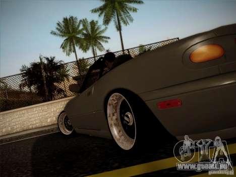 Mazda MX5 JDM pour GTA San Andreas sur la vue arrière gauche