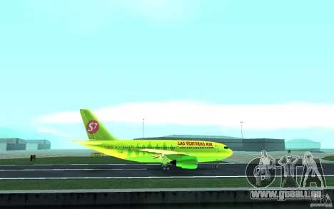 Airbus A310 S7 Airlines für GTA San Andreas Innenansicht