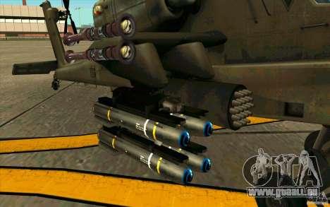 Apache AH64D Longbow pour GTA San Andreas vue arrière