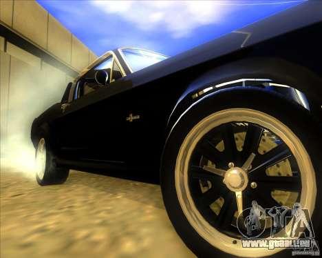 Shelby GT500 Eleanora clone pour GTA San Andreas vue arrière